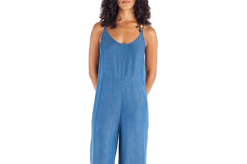 LEWIS JUMPSUIT WOMENS SOFTGOODS JUST FEMALE BLUE DENIM XS