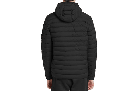 LOOM WOVEN HOODED DOWN JACKET-MO711543125 V0029
