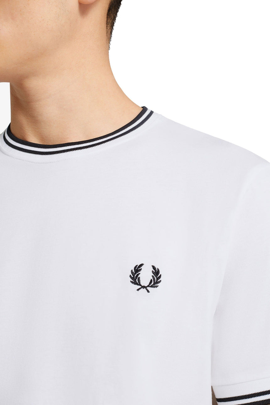 TWIN TIPPED T-SHIRT - M1588 MENS SOFTGOODS FRED PERRY
