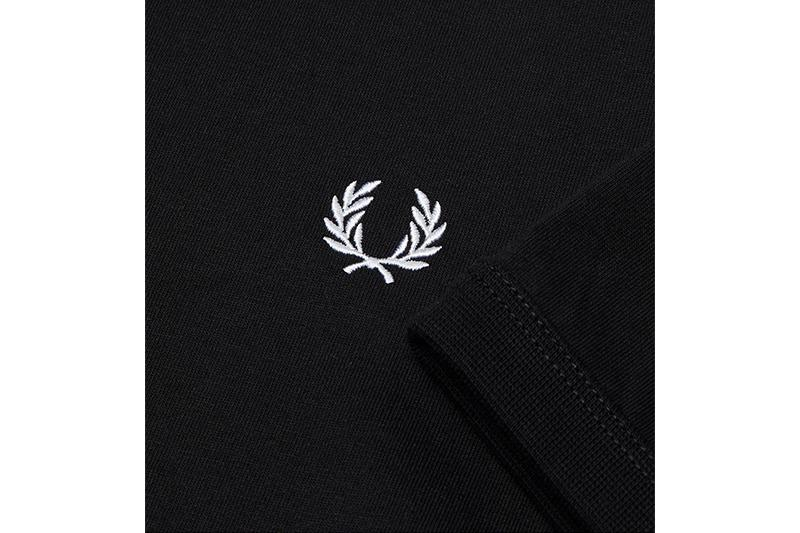 RINGER T-SHIRT - M3519 MENS FRED PERRY NRML BLACK