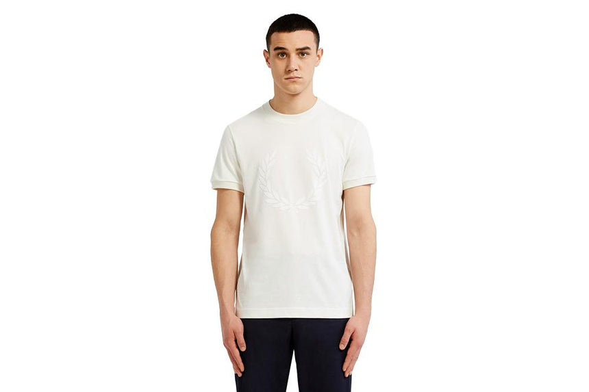 LAUREL WREATH TEXTURED - M5591 MENS SOFTGOODS FRED PERRY