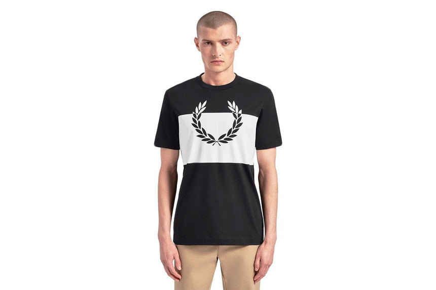 PRINTED LAUREL WREATH T-SHIRT - M7517 MENS SOFTGOODS FRED PERRY