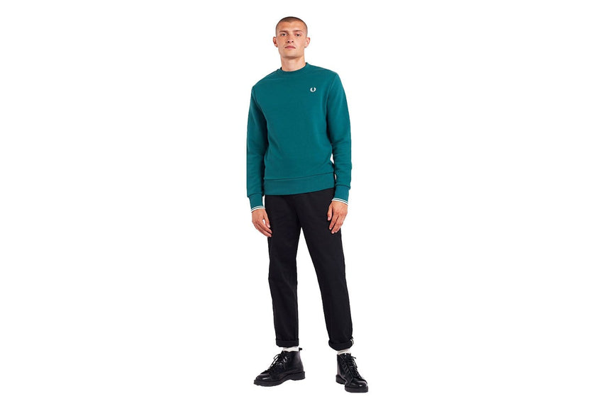 CREW NECK SWEATSHIRT - M7535 MENS SOFTGOODS FRED PERRY