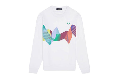 ABSTRACT SPORT SWEATSHIRT - M8635 MENS SOFTGOODS FRED PERRY