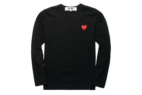 RED EMBLEM / BLACK L/S SHIRT MENS SOFTGOODS COMME DES GARCONS BLACK/RED M