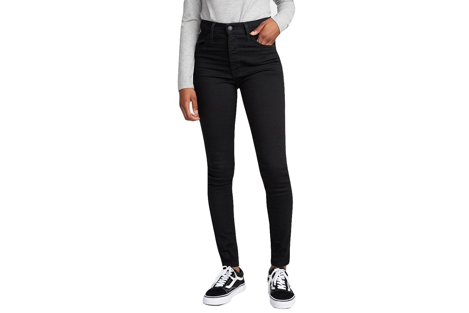 MILE HIGH SUPER SKINNY WOMENS SOFTGOODS LEVIS BLACK 25