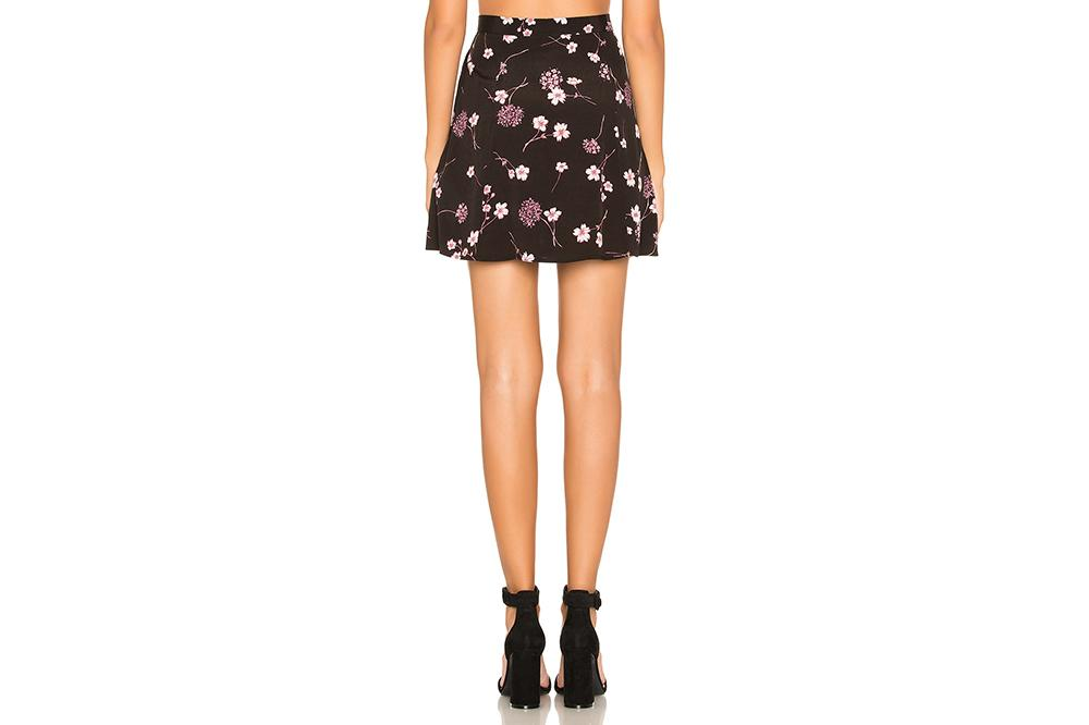 NIGHT GARDEN MINI SKIRT - IM19S1432 WOMENS SOFTGOODS MINK PINK