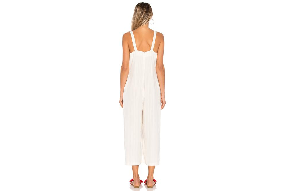 PINSTRIPE JUMPSUIT WOMENS SOFTGOODS MINK PINK