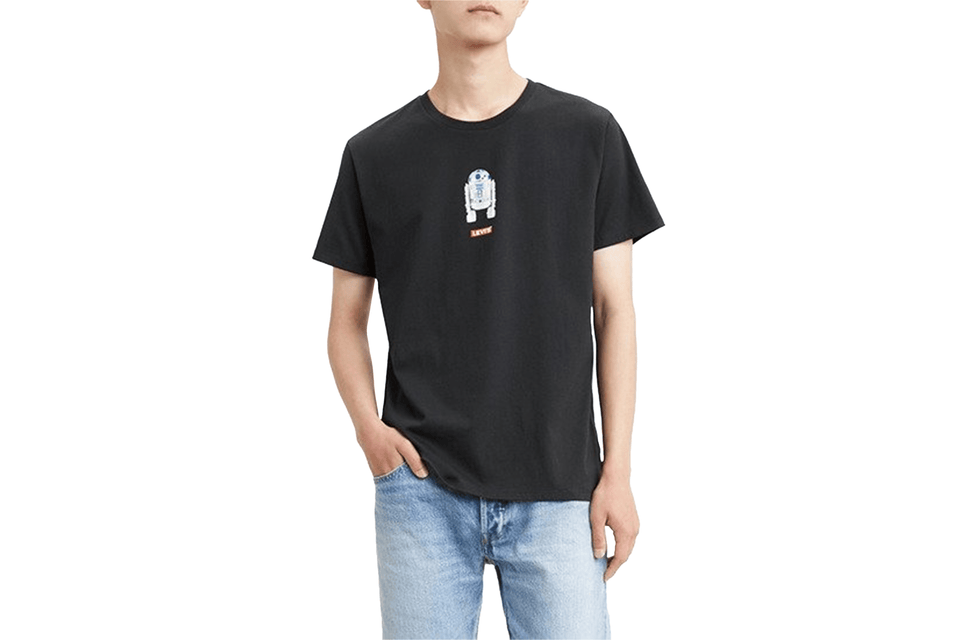 LEVIS STAR WARS R2-D2 GRAPHIC TEE BLACK