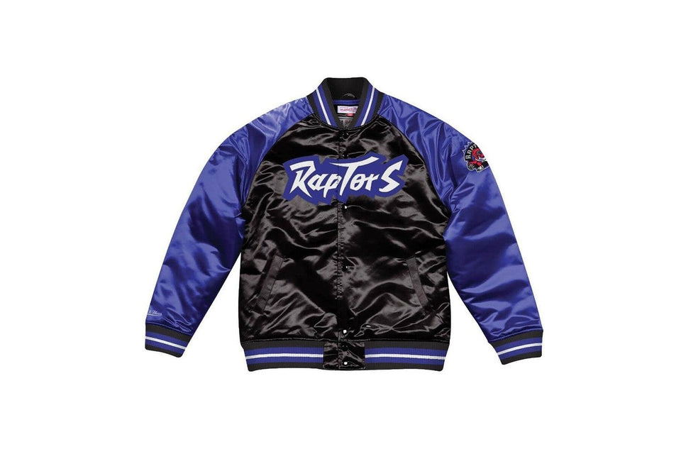 NBA TOUGH SEASON SATIN JACKET - BA57P7TRAKK5A MENS SOFTGOODS MITCHELL & NESS BLACK/PURPLE S
