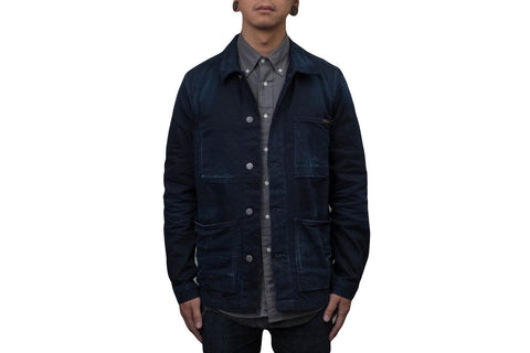 PAUL JACKET MENS SOFTGOODS NUDIE JEANS WORN DARK INDIGO XL