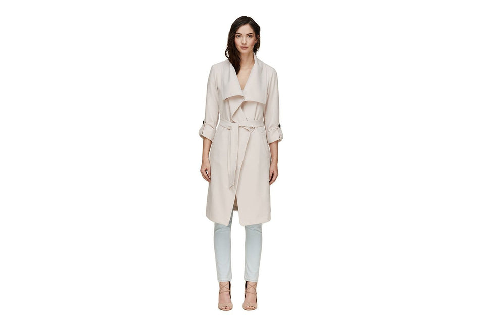 ORNELLA - DRAPED TRENCH WOMENS SOFTGOODS SOIA & KYO PEARL XS