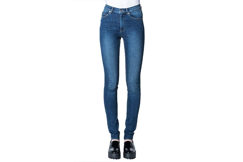 SECOND SKIN PANTS WOMENS SOFTGOODS CHEAP MONDAY PURE BLUE 32