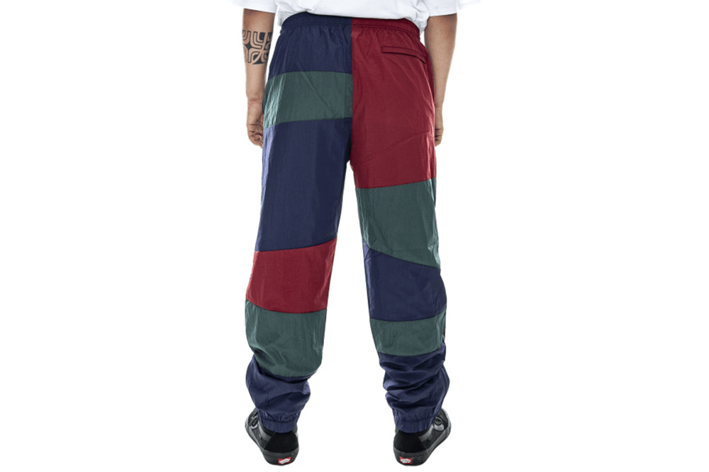 Stussy's Panel Blue, regular fit track pants Back View