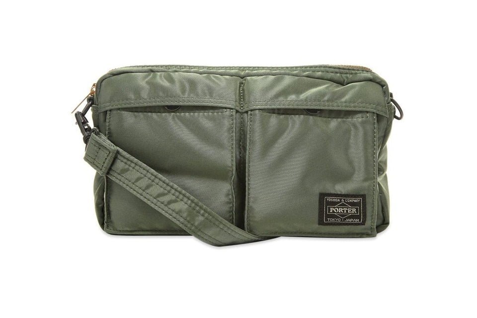 Sage green nylon Porter-Yoshida & Co.shoulder bag.