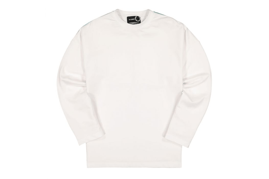RAF SIMONS PRINTED L/S T-SHIRT - SM8137 MENS SOFTGOODS FRED PERRY