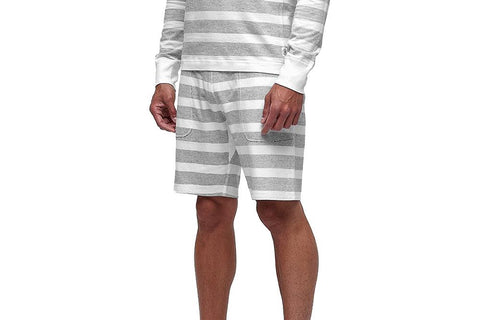 KNIT STRIPED TERRY SWEATSHORT - RC5125