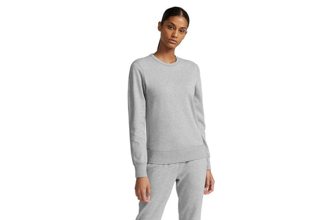 KNIT PIMA TERRY L/S GREY CREW - RC-W3008