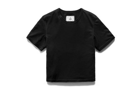 KNIT BOX FIT BLACK TEE - RC-W1007