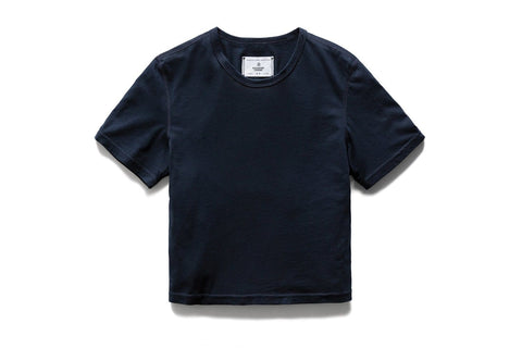 KNIT BOX FIT NAVY TEE - RC-W1007