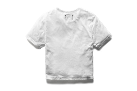 KNIT BOX FIT WHITE TEE - RC-W1007