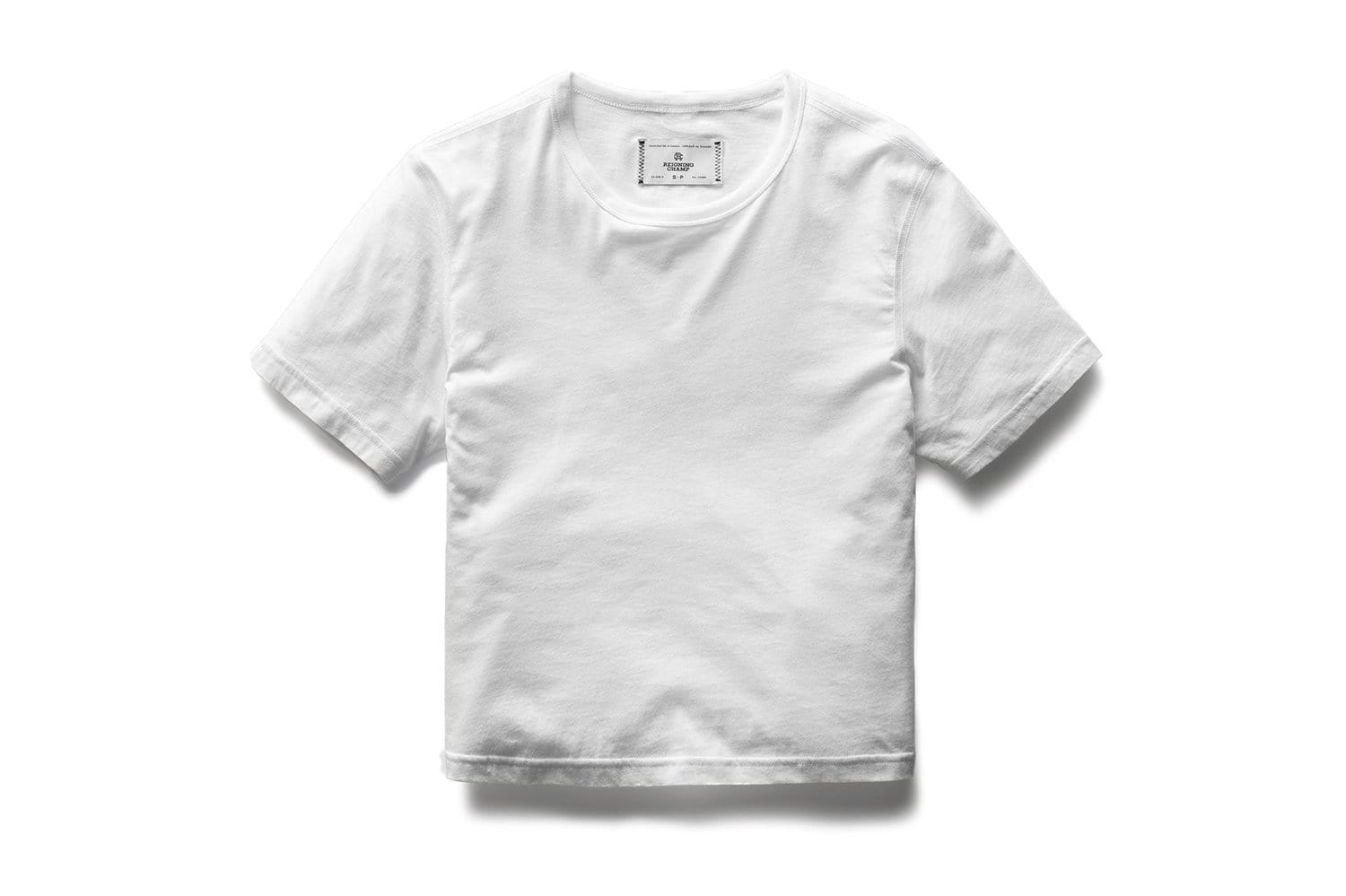 KNIT BOX FIT WHITE TEE - RC-W1007 WOMENS SOFTGOODS REIGNING CHAMP
