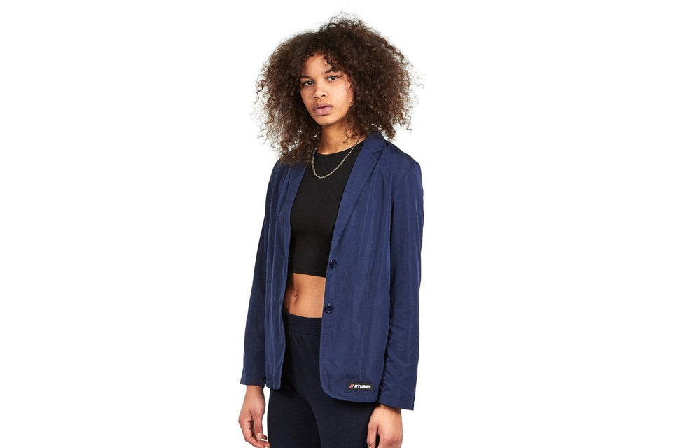 REENA UNSTRUCTURED BLAZER - 215098 WOMENS SOFTGOODS STUSSY NAVY M