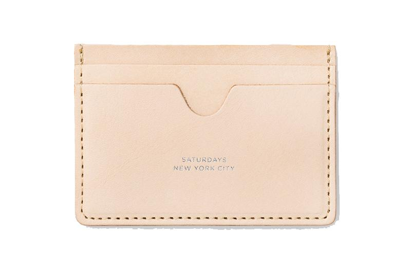RYAN CARD HOLDER ACCESSORIES SATURDAYS NYC RAW VEGTABLE TAN ONE SIZE