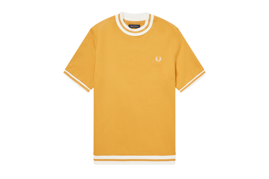 SHORT SLEEVE SWEATSHIRT - M8527 MENS SOFTGOODS FRED PERRY