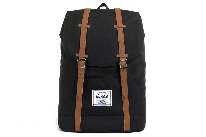 RETREAT 600D POLY BAGS HERSCHEL BLACK/TAN ONE SIZE