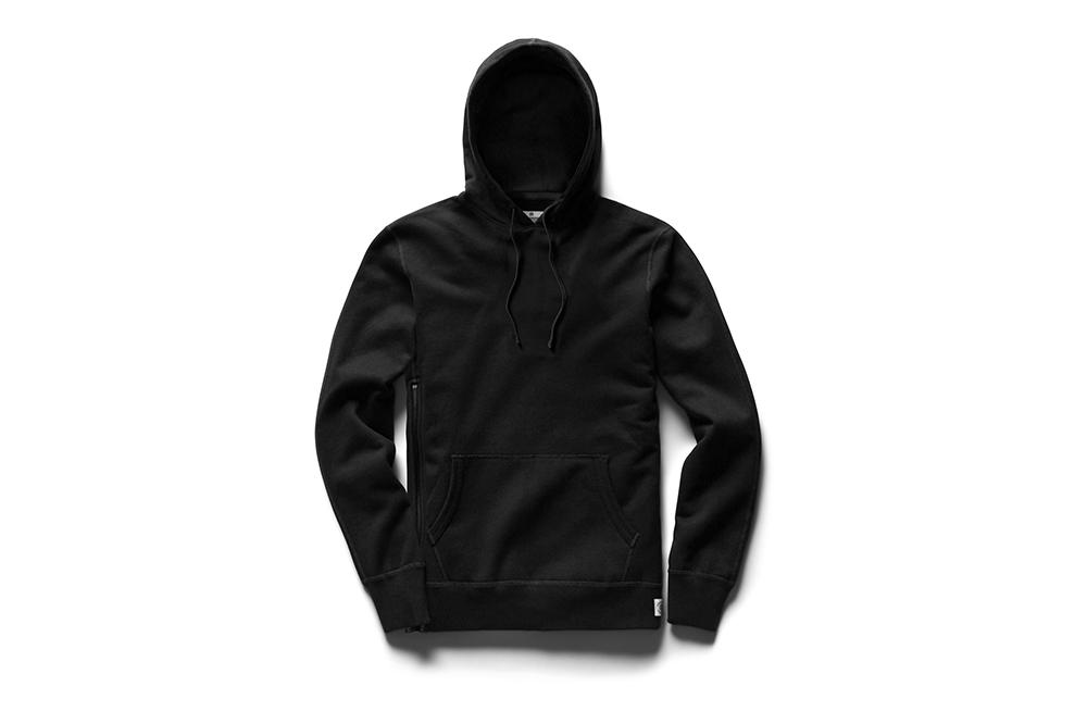 KNIT MID WEIGHT TERRY SIDE ZIP PULLOVER HOODIE - RC-3393 MENS SOFTGOODS REIGNING CHAMP