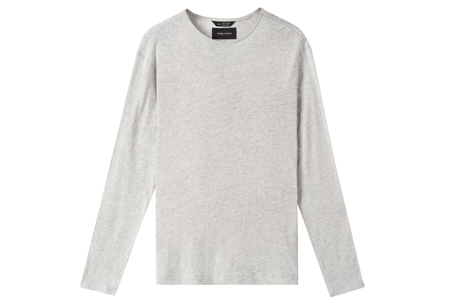 MENS KNIT LINEN JERSEY LONG SLEEVE MENS SOFTGOODS WINGS+HORNS NATURAL S WI-2167