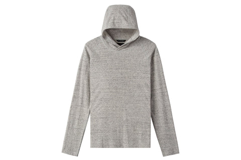 KNIT LOOP KNIT RAGLAN HOODED PULLOVER STATIC WHITE