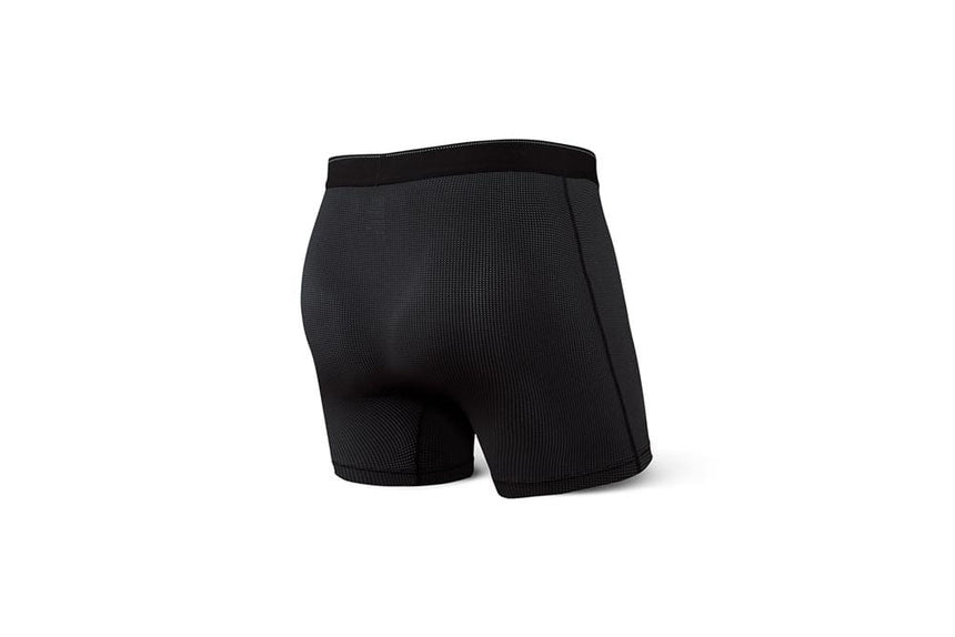 QUEST BOXER BRIEF FLY - SXBB70F - BLK MENS ACCESSORIES SAXX