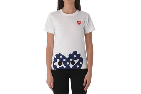 SMALL RED HEART/LARGE POLKA DOT HEART BOTTOM