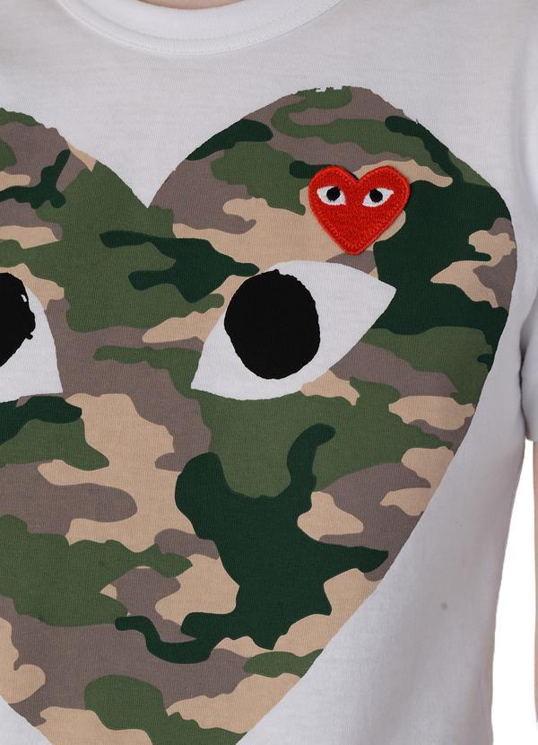 SMALL RED HEART/LARGE CAMO HEART WOMENS SOFTGOODS COMME DES GARCONS