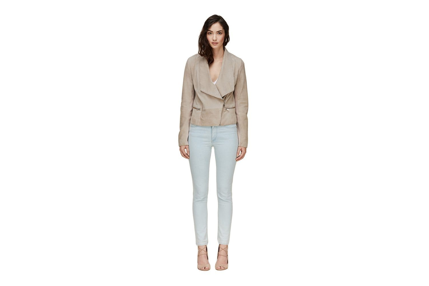 THORA - SHORT LEATHER JACKET WOMENS SOFTGOODS SOIA & KYO SILVERASH S