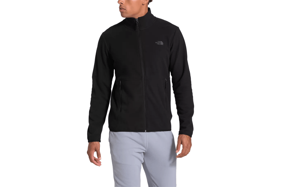 THE NORTH FACE TKAGLCR FZJKT TNF-NF0A4AJCKX7 IN BLACK FRONT VIEW