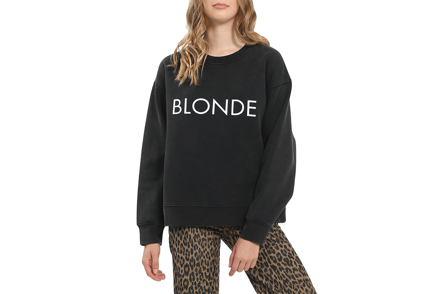 BLONDE STEP SISTER CREW-BTL155BL WOMENS SOFTGOODS BRUNETTE