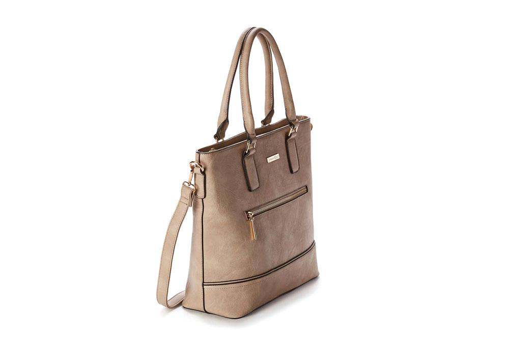 VICTORIA - FRONT ZIP TOTE - SP1905A WOMENS BAGS JEANE AND JAX
