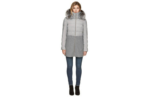 VELMA-FX LADIES MIXED MEDIA COAT