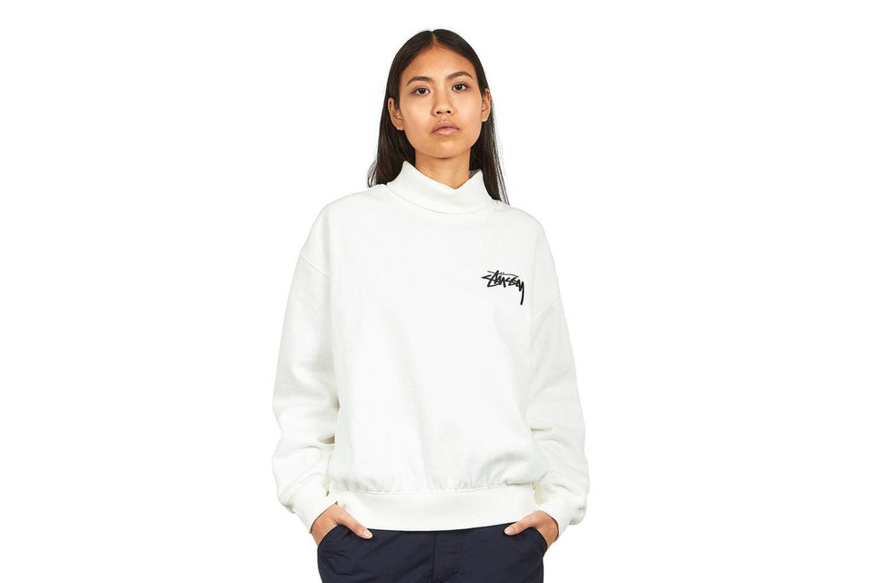 WELLER TURTLENECK FLEECE CREW - 218069 WOMENS SOFTGOODS STUSSY