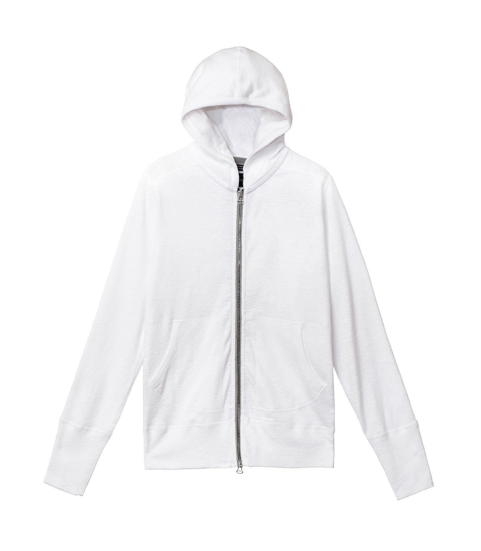 1X1 SLUB RIB ZIP FRONT HOODIE MENS SOFTGOODS WINGS+HORNS WHITE XL