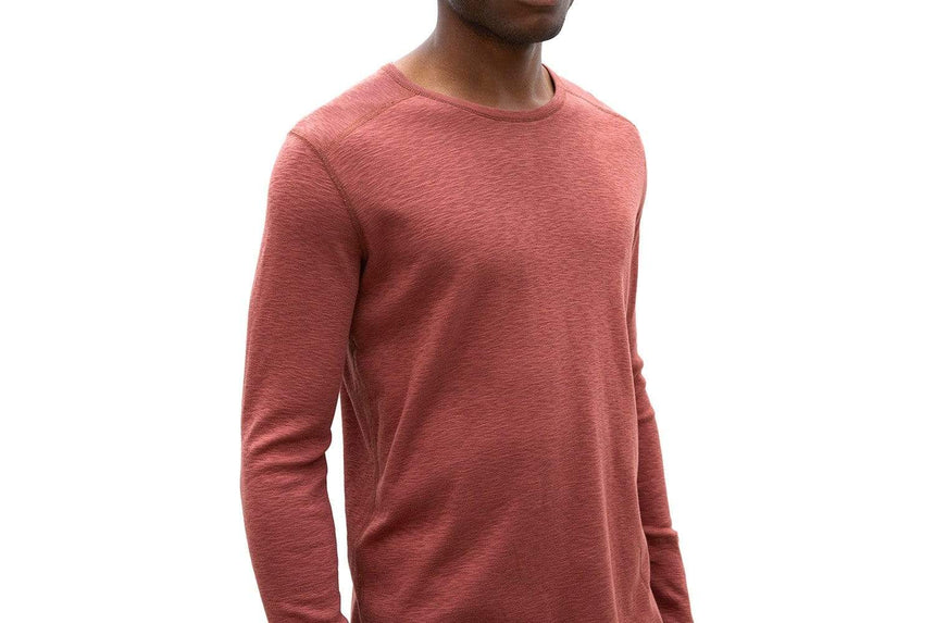 KNIT 1X1 SLUB LONG SLEEVE CREWNECK - WI-2119 MENS SOFTGOODS WINGS+HORNS