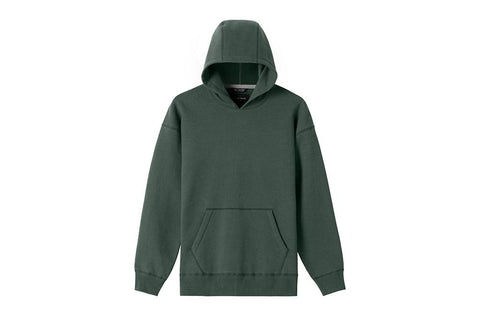 KNIT RELAXED FLEECE HOODED PULLOVER - WI-3251