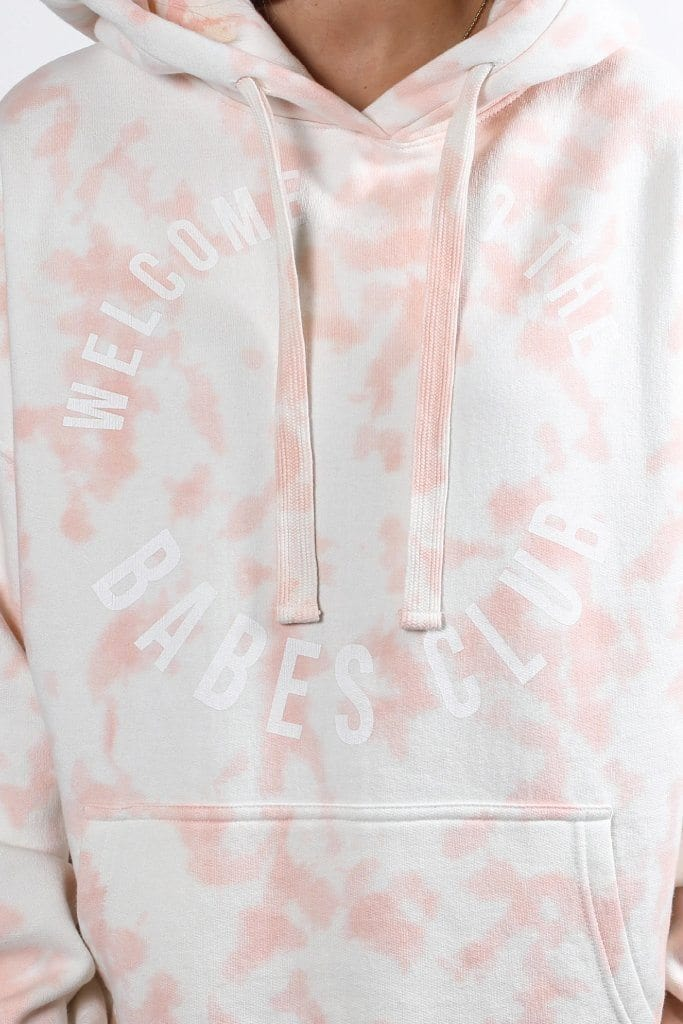 MARBLE BIG SISTER HOODIE WELCOME-BTL188 WOMENS SOFTGOODS BRUNETTE THE LABEL