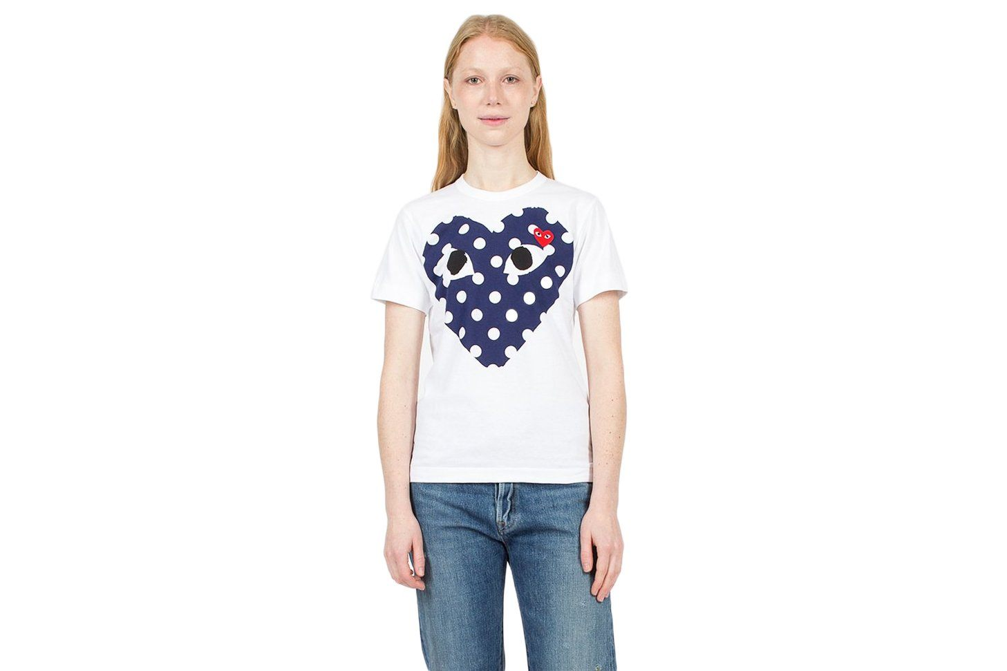 BIG POLKA DOT HEART/SMALL RED HEART WOMENS SOFTGOODS COMME DES GARCONS