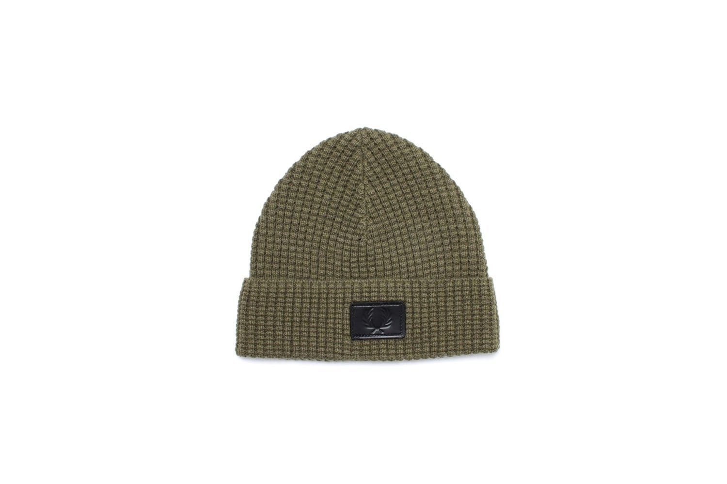 WAFFLE KNIT BEANIE - C4104 HATS FRED PERRY