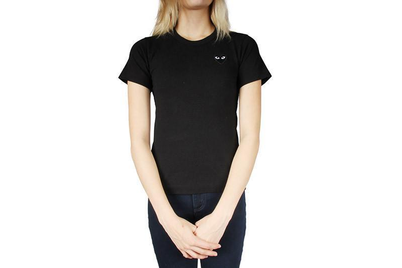 SMALL HEART BLK/BLK WOMENS SOFTGOODS COMME DES GARCONS BLACK XS