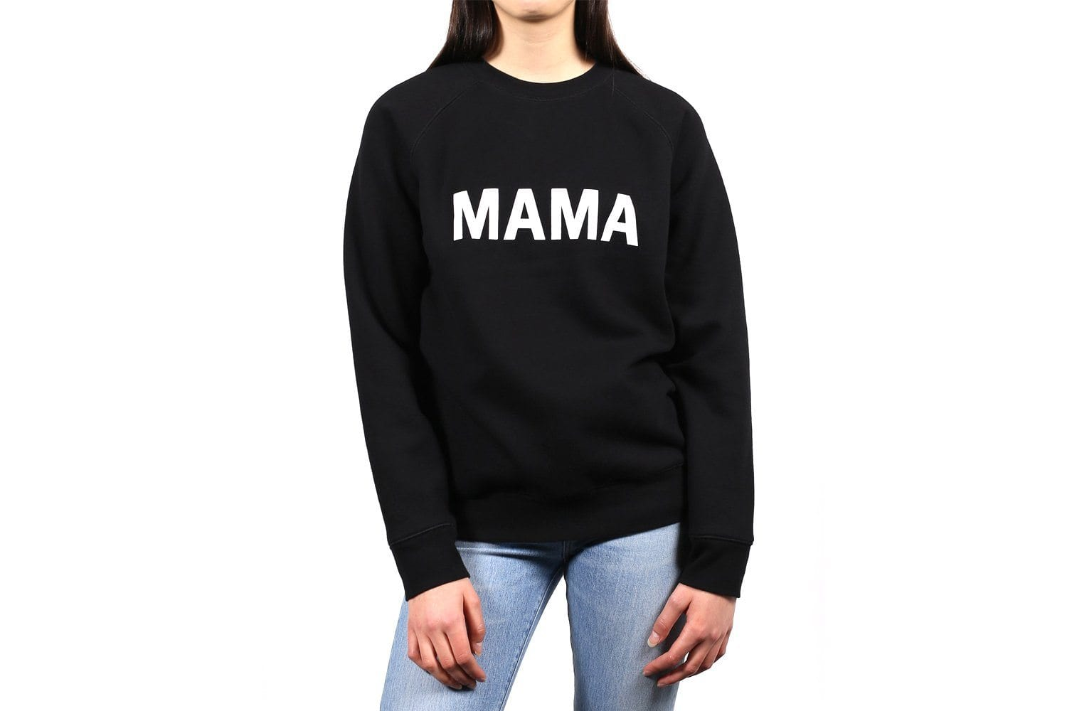 MAMA CREW NECK BOLD-BTL140 WOMENS SOFTGOODS BRUNETTE THE LABEL